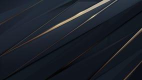 Technologie numérique futuriste géométrique de résumé Fond de luxe bleu-foncé et d'or illustration de vecteur