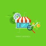 Technologie-Online-Service-Anwendungsinternet-Geschäftskonzeptvektor des kreativen Prozessnetzes der vision flachen infographic lizenzfreie abbildung