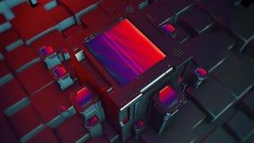 Technologie op Tegels in 4K stock videobeelden