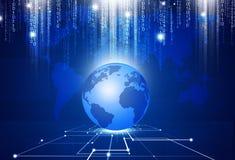 Technologie ordnet die Welt an Stockbild