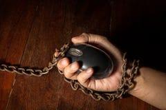 Technologie ou victime d'Internet, problème social Photos libres de droits