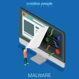 Technologie plate infectée de vecteur de logiciel d'Internet de site Web Photos stock