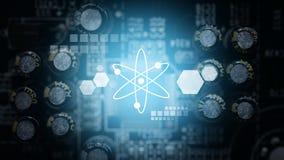 Technologie pour le fond électrique de carte Photos libres de droits