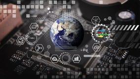 Technologie pour le fond électrique de carte Image libre de droits
