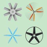 Technologie réglée de rotation de refroidisseur de ventilateur d'icône d'air d'équipement de ventilateur de vent de propulseur de Illustration Libre de Droits
