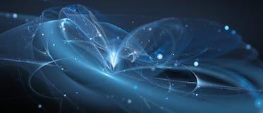 Technologie rougeoyante de bleu nouvelle dans l'espace lointain Photographie stock libre de droits