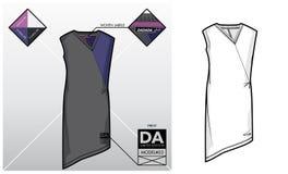 Technologie-schets van een kleding Stock Afbeeldingen