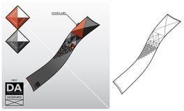 Technologie-schets van een sjaal Stock Foto