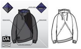 Technologie-schets van een sweatshirt Stock Afbeelding
