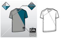 Technologie-schets van een T-shirt Royalty-vrije Stock Afbeeldingen