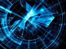 Technologie-schijf - abstract digitaal geproduceerd beeld Royalty-vrije Stock Afbeelding