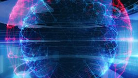 Technologie-Schnittstellen-Computer-Daten-Digital-Schirm stock abbildung