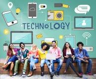 Technologie Sociaal Media Voorzien van een netwerk Online Digitaal Concept royalty-vrije stock afbeeldingen