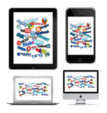 Technologie sociale sur Apple Photo stock
