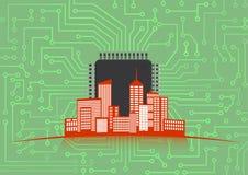 Technologie-Stadt Stockfoto