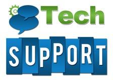 Technologie-Steun Professionele Groenachtig blauw met Symbool Royalty-vrije Stock Afbeeldingen