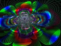 Technologie-stijlbloem - abstract digitaal geproduceerd beeld Stock Foto