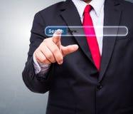 Technologie, système de recherche et concept d'Internet image stock