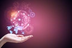 Technologie, toekomst en innovatie royalty-vrije stock foto