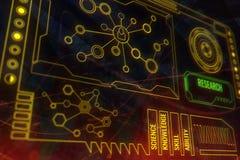 Technologie, toekomst, media en analyticsconcept vector illustratie