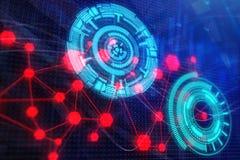 Technologie, toekomst, media en projectieconcept Royalty-vrije Stock Afbeelding
