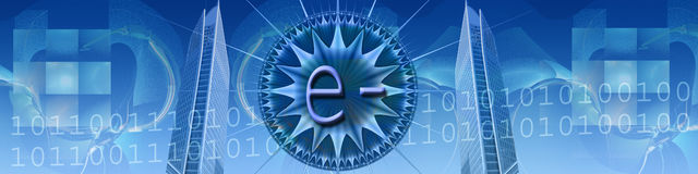 Technologie und elektronischer Geschäftsverkehr Lizenzfreie Stockbilder