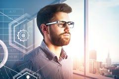 Technologie- und Erfolgskonzept lizenzfreies stockbild