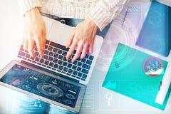 Technologie- und Finanzkonzept Lizenzfreie Stockfotos