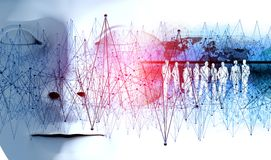 Technologie- und Geschäftskonzept Netz und globale Kommunikation Stockbilder