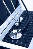 Technologie- und Medizinblau Lizenzfreie Stockbilder