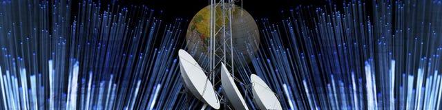 Technologie und moderne Kommunikation Stockbild
