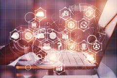 Technologie und Netz lizenzfreie stockfotografie