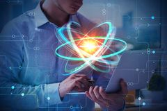 Technologie- und Wissenschaftskonzept stockfoto