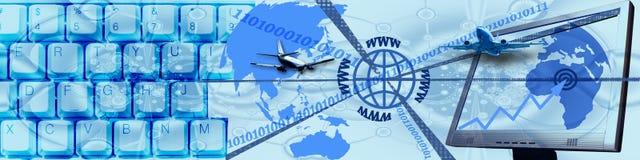 Technologie und WW Geschäft stockbild