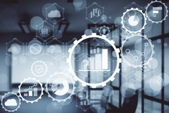 Technologie- und Zukunftkonzept lizenzfreie stockfotografie