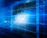 Technologie van Aantallenreeks Achtergrondsamenstelling van cijfers, netten en lichten voor wat betreft technologie, wetenschap stock afbeeldingen