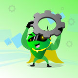 Technologie van de het Tandrad de Moderne Steun van de robotgreep vector illustratie