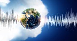 Technologie van geluid stock afbeeldingen