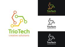 Technologie van het trio Stock Afbeelding