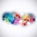 Technologie-Verbindungs-Mehrfarbenhintergrund Stockfoto