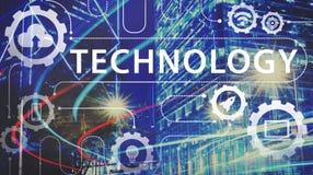 Technologie-Verbindungswolken-Netz-Konzept lizenzfreies stockfoto