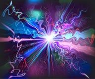 Technologie virtuelle futuriste de vagues vitreuses de galaxie Images stock