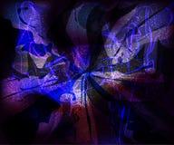 Technologie virtuelle futuriste de vagues vitreuses de galaxie Image libre de droits
