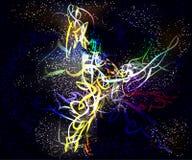 Technologie virtuelle futuriste de vagues vitreuses de galaxie Photographie stock libre de droits