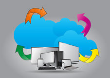 Technologie-wolk Stock Afbeeldingen