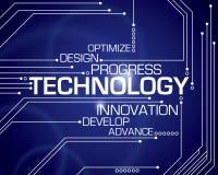 Technologie-Wort-Hintergrund Lizenzfreie Stockbilder