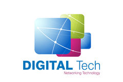 Technologie-Zeichen-Auslegung stock abbildung
