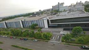 Technologie-Zentrumsdachspitze Ansicht stockfotografie