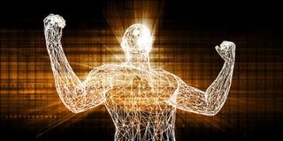 Technologie-Zusammenarbeit lizenzfreie abbildung