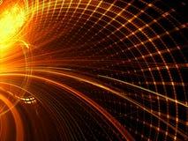 Technologieachtergrond - abstract digitaal geproduceerd beeld Stock Afbeeldingen